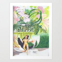 Something About Glass Houses Art Print