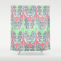 lungs Shower Curtains featuring Lungs by Charlotte Goodman