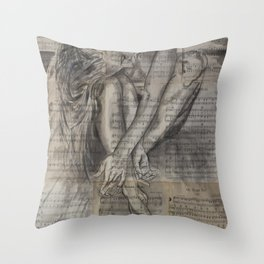 Music pages Oh Sherrie Throw Pillow