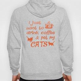 Coffee & Cats Hoody