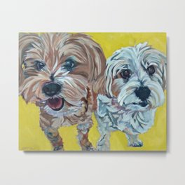 Ollie and Bailey Dog Portrait Metal Print