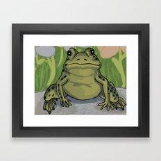 Frog Framed Art Print