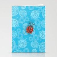 ladybug Stationery Cards featuring Ladybug by JoonMoon