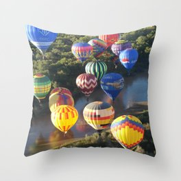Flame Glow Float Throw Pillow
