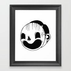 Always happy. Framed Art Print