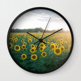 Sunflower Day Wall Clock