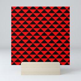 schwarz rot Mini Art Print