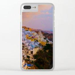 Santorini,Greece Clear iPhone Case