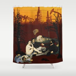 The Dinner on the Grass Shower Curtain