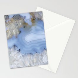 Provincial blue agate couple Stationery Cards