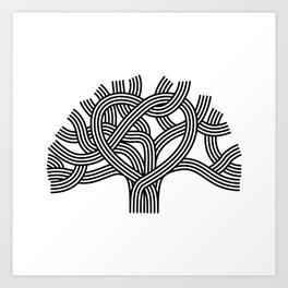 Oakland Love Tree (Black) Art Print