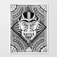 devil Canvas Prints featuring Devil by Cady Bogart