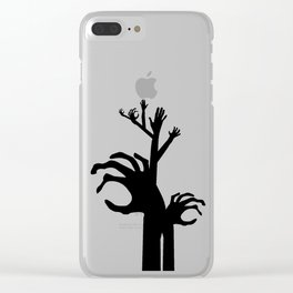 Halloween Raising Ghost Hands Clear iPhone Case