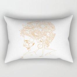 Sunflowers in my head Rectangular Pillow