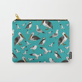 Puffins, Pelicans, and Seagulls Carry-All Pouch