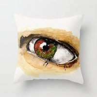 study Throw Pillows featuring Study by Kendall Brier