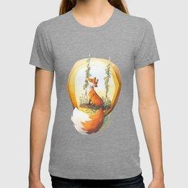 Fox on a swing T-shirt