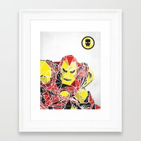 ironman Framed Art Prints featuring Ironman by Josh Ln