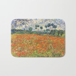 Poppy Field by Vincent van Gogh, 1890 painting Bath Mat