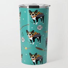 Boston Terrier witch wizard dog pattern gifts Travel Mug