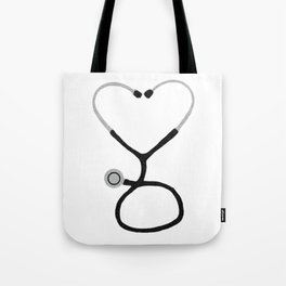 Heart Shaped Stethoscope for Doctor or Nurse Tote Bag