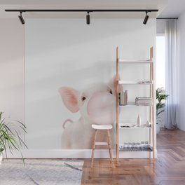 Bubble Gum Baby Pig Wall Mural