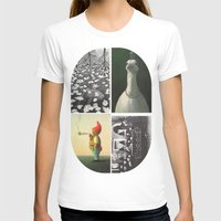 postcard T-shirts featuring Postcard Collage by wetravelasequals