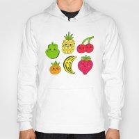 fruits Hoodies featuring Kawaii Fruits by Ornaart