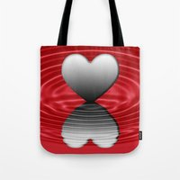 valentine Tote Bags featuring Valentine by Kathleen Stephens