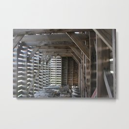 Trapped in Wood Metal Print