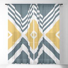 Nautical geometry 2 Sheer Curtain