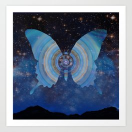 Stellar Butterfly Art Print
