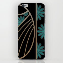 ART DECO FLOWERS (abstract) iPhone Skin