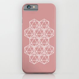 Pink Polygon iPhone Case
