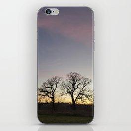 Autumn Sunset Silhouette - Pheasant Branch Conservancy iPhone Skin