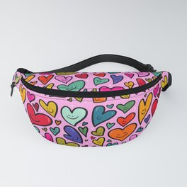 Smiling Heart Print Fanny Pack