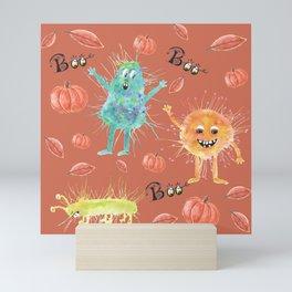 Halloween watercolor monsters Mini Art Print