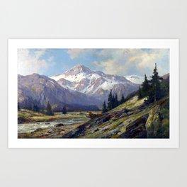 Max Cornelius Rocky Mountains Art Print