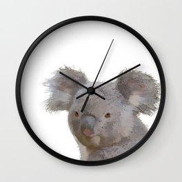 Grey Koala Wall Clock