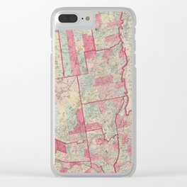 Vintage Map of The Adirondack Mountains (1865) Clear iPhone Case