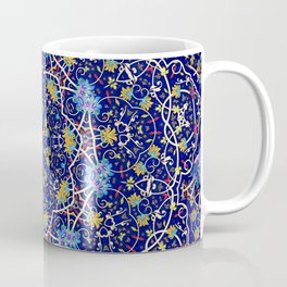 Nine sided ornament in blue with swirly things and such Coffee Mug