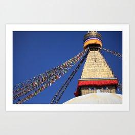 Bodnath stupa Art Print