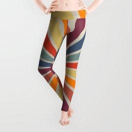 Spiral Stripe Retro Rainbow Leggings