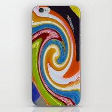 spirals color material iPhone & iPod Skin