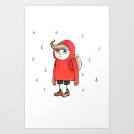 little red riding Art Print