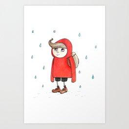 little red riding Art Print