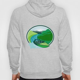 Jetboat River Canyon Mountain Oval Retro Hoody