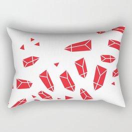 Red Crystals Rectangular Pillow