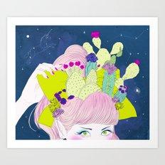 Cactus Crown Art Print