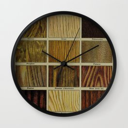 Wood Grain Chart Wall Clock